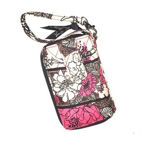 Vera Bradley floral print wallet with phone holder